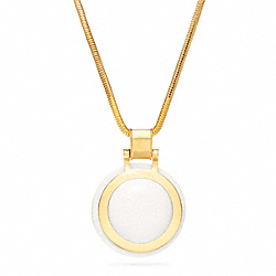 CIRCLE PENDANT NECKLACE - f96772 - 24844