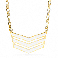 COACH CHEVRON NECKLACE - ONE COLOR - F96775