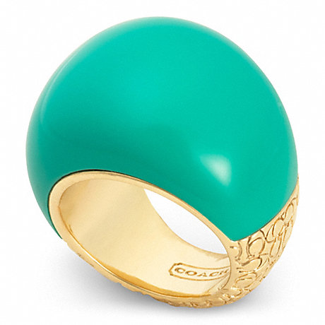 COACH MOD BUBBLE RING - GOLD/TURQUOISE - f96777