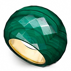 FACETED BUBBLE RING - GOLD/GREEN - COACH F96779