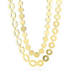 DOUBLE WRAP DISK NECKLACE - f96780 - 24856