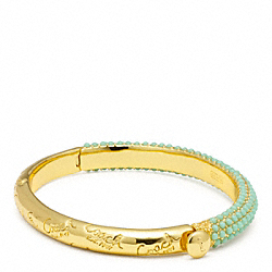 PAVE HINGED BANGLE COACH F96781