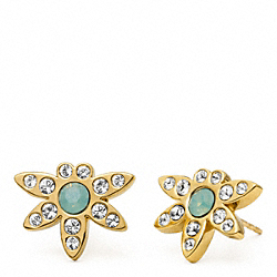 PAVE STUDDED EARRINGS COACH F96783