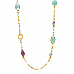 COACH MULTI RHINESTONE STATION NECKLACE - ONE COLOR - F96784