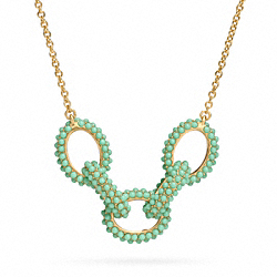 PAVE LINK NECKLACE - f96787 - 24860