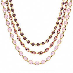 TRIPLE STRAND RHINESTONE NECKLACE COACH F96788