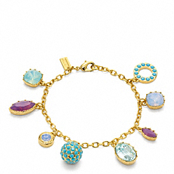 COACH MULTI RHINESTONE CHARM BRACELET - ONE COLOR - F96791