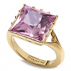 COACH STONE COCKTAIL RING - ONE COLOR - F96796