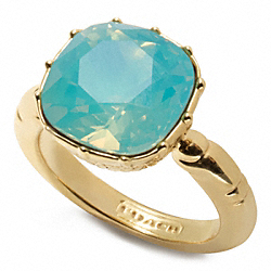 COACH CUSHION STONE RING - ONE COLOR - F96801