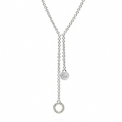 STERLING LARIAT NECKLACE COACH F96803