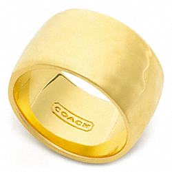 COACH HAMMERED BAND RING - ONE COLOR - F96806