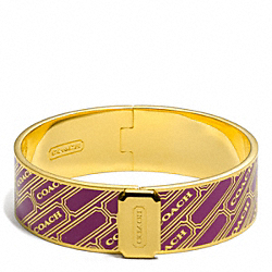 COACH THREE QUARTER INCH LOZENGE BANGLE - ONE COLOR - F96813