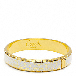 COACH HALF INCH PAVE SIGNATURE BANGLE - ONE COLOR - F96819