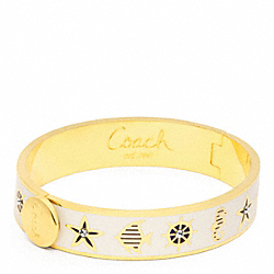 COACH HALF INCH HINGED SUMMER BANGLE - ONE COLOR - F96822