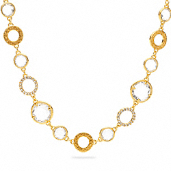 SHORT GLASS STATION NECKLACE COACH F96826