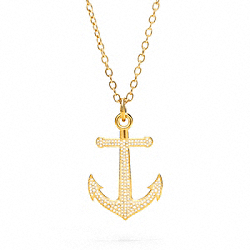 COACH PAVE ANCHOR NECKLACE - ONE COLOR - F96828