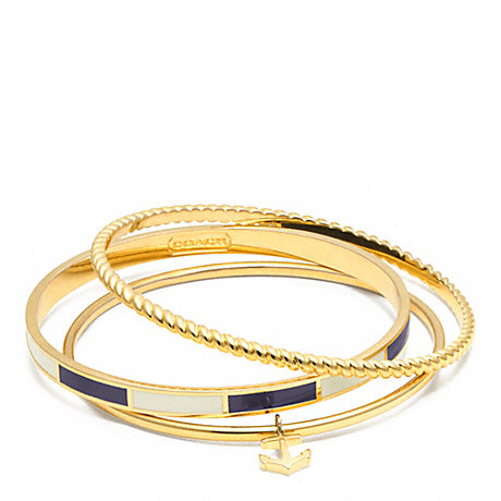 COACH f96829 ANCHOR STRIPE STACKING BRACELET