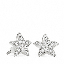 COACH STERLING STARFISH STUD EARRINGS - ONE COLOR - F96830