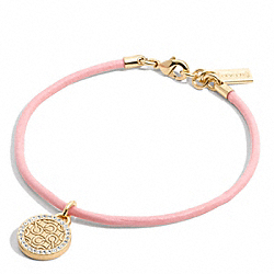 COACH PAVE OP ART CORD BRACELET - ONE COLOR - F96837
