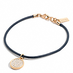 COACH PAVE DISC CORD BRACELET - ONE COLOR - F96840