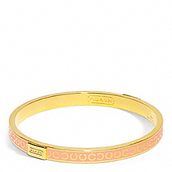 COACH THIN OP ART BANGLE - ONE COLOR - F96856