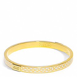 COACH THIN OP ART BANGLE - GOLD/WHITE - F96856