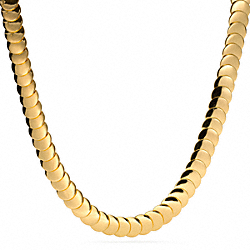 COACH OVERLAP DISC NECKLACE - ONE COLOR - F96882