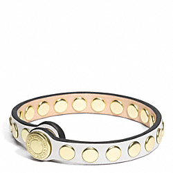 COACH SKINNY STUD LEATHER BRACELET - ONE COLOR - F96894