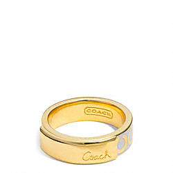 ENAMEL PLAQUE BAND RING COACH F96901
