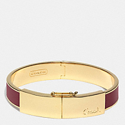 HALF INCH THIN HINGED LOZENGE BANGLE - f96908 - BRASS/BRICK