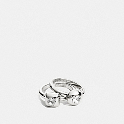 COACH STONE RING SET - SILVER/CLEAR - F96917
