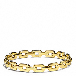 FLAT CHAIN LINK BANGLE - f96924 - GOLD/GOLD