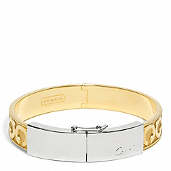TWO TONE HINGED BRACELET COACH F96961