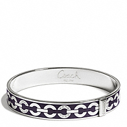 THIN OP ART PAVE BANGLE COACH F96965