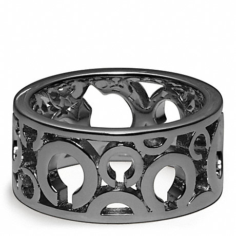 COACH PIERCED OP ART BAND RING -  - f96968