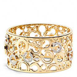 PIERCED OP ART BANGLE - f96969 - 24018