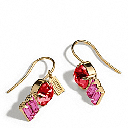 COACH DOUBLE DROP STONE EARRINGS - ONE COLOR - F96986
