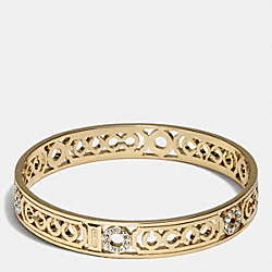 PIERCED OP ART LOZENGE BANGLE - GOLD/GOLD - COACH F96993