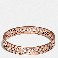 PIERCED OP ART LOZENGE BANGLE - ROSEGOLD - COACH F96993