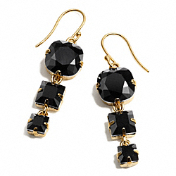 TRIPLE STONE DROP EARRING - f96996 - 30918