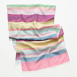COACH HAMPTONS WEEKEND STRIPE OBLONG SCARF - MULTICOLOR - F97558