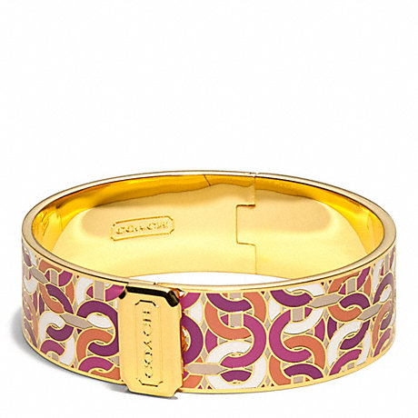 COACH f99507 LINK PRINT OP ART BANGLE