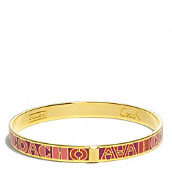 COACH ENAMEL BLOCKED LETTER BANGLE - ONE COLOR - F99509