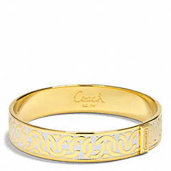 LINKED OP ART HINGED BANGLE COACH F99516
