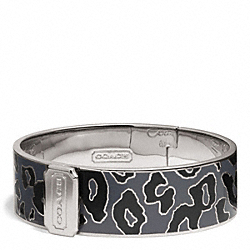 THREE QUARTER INCH HINGED OCELOT BANGLE COACH F99528