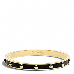 COACH NAIL HEAD BANGLE - GOLD/BLACK - F99544