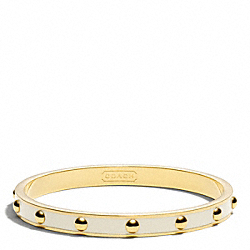 COACH NAIL HEAD BANGLE - GOLD/WHITE - F99544