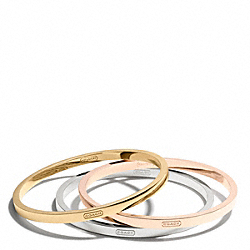 COACH MIXED METAL BANGLE SET - ONE COLOR - F99545