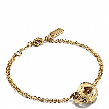 COACH LINKED RONDELLE BRACELET - GOLD/GOLD - f99551