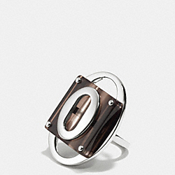 RESIN AND METAL RING - MULTICOLOR - COACH F99562